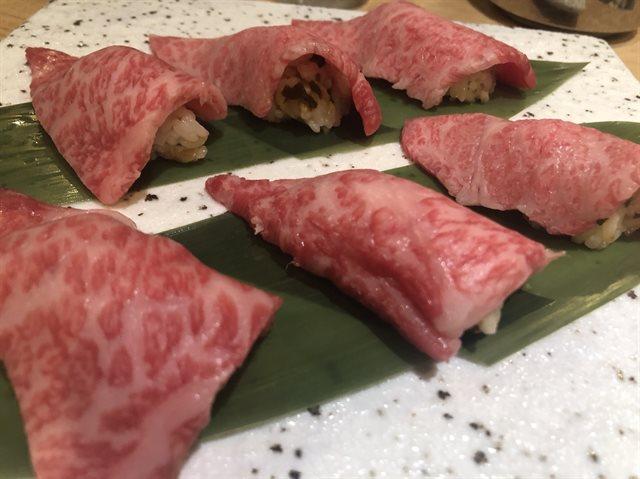 一口炙り寿司