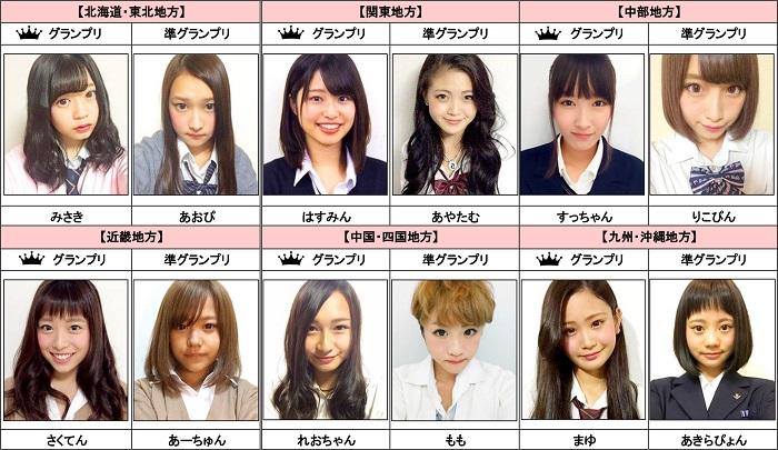「女子高ミスコン2015-16」ファイナリスト