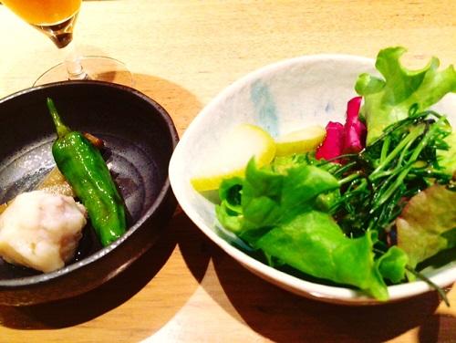 あおやま小菜とサラダ